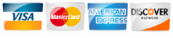 We Accept Visa MasterCard Discover American Express in 80122